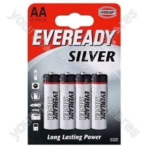 AA B4 Eveready Silver 621065