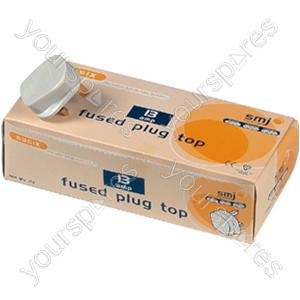 B75 13 Amp Fused Plug -white
