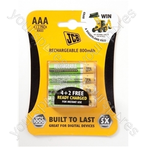 JCB Rx03/aaa800instant4+2 Ready To Use Alk Rechargeable