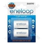 Sanyo Eneloop C Size Adaptors 2pk