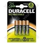 Duracell AAA 750mah B4 090231