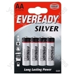 AA B4 Eveready Silver 621065