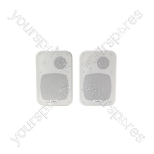 Stereo Background Speakers - 30W White Pair - B30-W