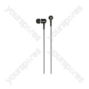 HQ2R Metal In-ear Earphones, Red/Black