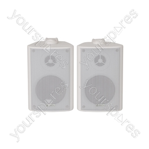 BC Series Stereo Background Speakers - BC3W 3inch White Pair - BC3-W
