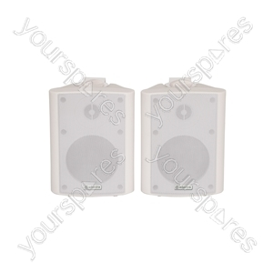 BC Series Stereo Background Speakers - BC4W 4inch White Pair - BC4-W