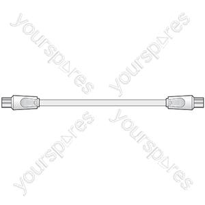 Coaxial plug - coaxial plug, 10.0m, white - Bopp Bag