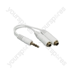 3.5mm Stereo Headphone Splitter 0.4m - lead