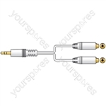 3.5mm Stereo Headphone Splitter 0.4m - lead