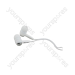 In-ear Stereo Earphones - earphones, White, EC9W
