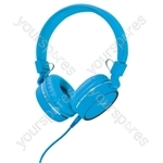 Multimedia Headphones with Inline Microphone - in-line - PH10-BLU
