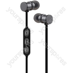 Metallic Magnetic Bluetooth Earphones - Grey - EMBT1-GRY