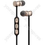 Metallic Magnetic Bluetooth Earphones - Gold - EMBT1-GLD