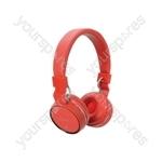 Wireless Bluetooth® Headphones - Red - PBH10-RED