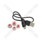 Waterproof Wireless Bluetooth® In-ear Activity Earphones - IPX7 Headphones Red - SBH03-RED