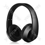 Satin Finish Bluetooth Headphones with Dynamic Bass - Black - SFBH1-BLK