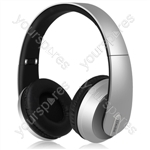 Satin Finish Bluetooth Headphones with Dynamic Bass - Silver - SFBH1-SLV