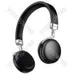 Metallic Bluetooth Headphones - Black - NEO-BLK