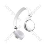 Metallic Bluetooth Headphones - Silver - NEO-SLV