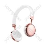 Metallic Bluetooth Headphones - Rose Gold - NEO-RSE