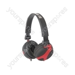 Stereo Headphones - QX40R Red