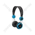 Classroom Headphones with In-line Microphone - Blue - EHP800-BLU
