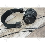Children's Educational Headphones with in-line Microphone - Black - CH850-BLK