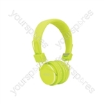 Children's Educational Headphones with in-line Microphone - Green - CH850-GRN