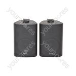 BC Series Stereo Background Speakers - BC3B 3inch Black Pair - BC3-B