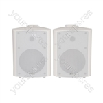 BC Series Stereo Background Speakers - BC6W 6.5inch White Pair - BC6-W
