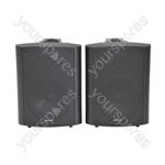 BC Series Stereo Background Speakers - BC6B 6.5inch Black Pair - BC6-B
