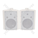 BC Series Stereo Background Speakers - BC8W 8inch White Pair - BC8-W