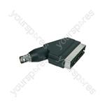 Scart Plug to BNC Socket - BNC/SCART adaptor