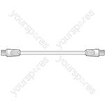Coaxial plug - coaxial plug, 2.0m, white - Bag