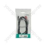 3.5mm Stereo Plug to 2 x RCA Plugs Leads - 3.0m