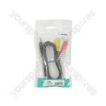 Camcorder Audio/Video Lead - lead, 3.5mm plug to 3 x RCA plug 2.0m