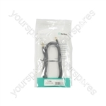 Precision 3.5mm Stereo Plug to 3.5mm Stereo Plug Leads - 1.5m