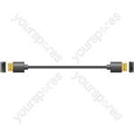 Thin-Wire High Speed 4K Ready HDMI Leads with Ethernet - thinwire plug to plug 1.0m