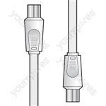 Essential Coaxial Plug to Plug Lead 2.0m - flylead