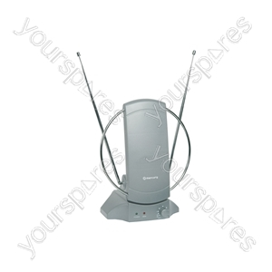 TV/FM Indoor Amplified Aerial - ST36A antenna with amplifier, blister