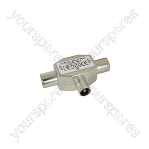 Radio/TV Splitters - splitter, 1 plug, 2 sockets