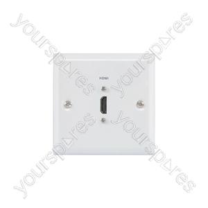 HDMI Steel Wallplate - white