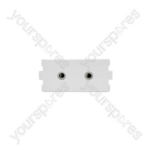 Wallplate Module - 2 x 3.5mm Stereo Sockets - Modules modules