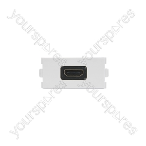 Wallplate Module - Right Angled HDMI Coupler - Modules modules