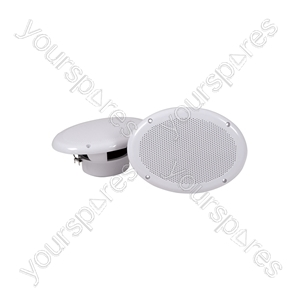 "6""x 9"" 2-Way Flush Mount Speakers, Water Resistant, 4 ohms"