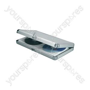 Aluminium CD Flight Cases - wallet, 40 CDs - CDW-40