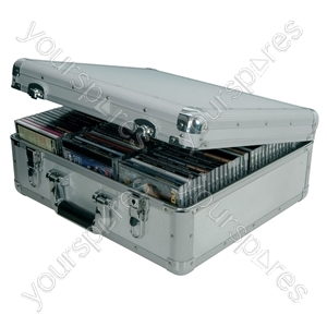 Aluminium CD Flight Cases - case, 96 CDs - CDA:96