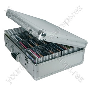 Aluminium CD Flight Cases - case, 120 CDs - CDA:120