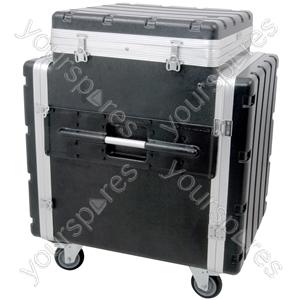"12U Tilt-top 19"" PA Rack Case - ABS:PA"