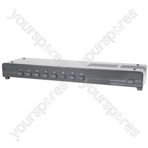 8 Way Loudspeaker Selector - (UK version) 8-way - AD-SPK18